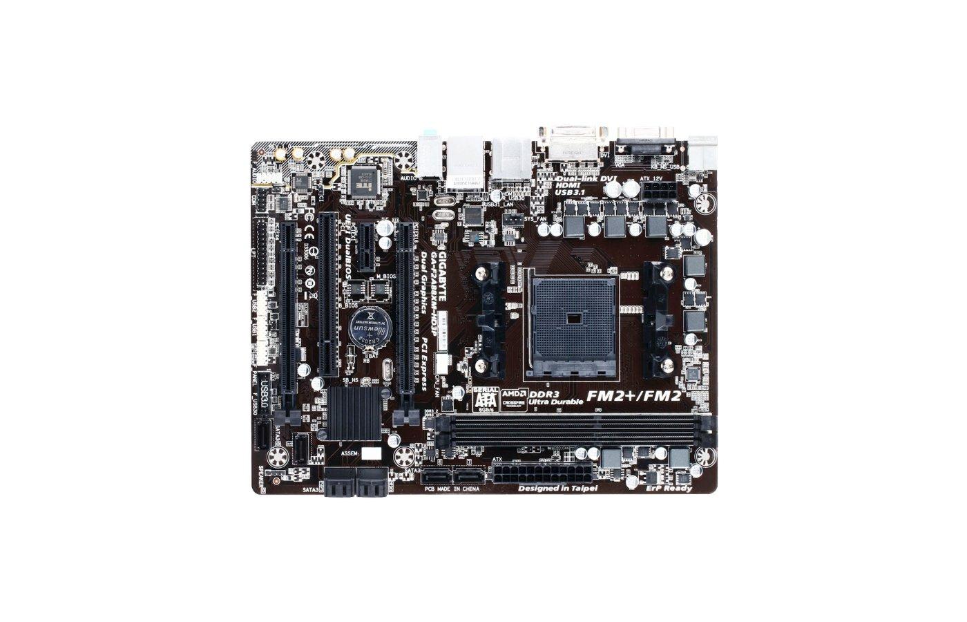Материнская плата Gigabyte GA-F2A88XM-HD3P Soc-FM2+ AMD A88X 2xDDR3 mATX AC`97 8ch(7.1)