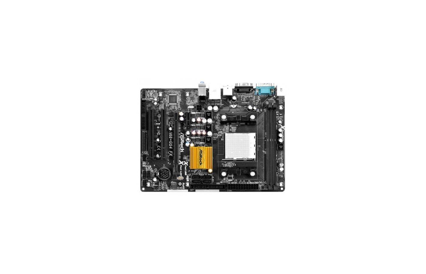 Материнская плата Asrock N68-GS4 FX Soc-AM3+ nVidia GeForce 7025 2xDDR3 mATX AC`97 6ch(5.1)