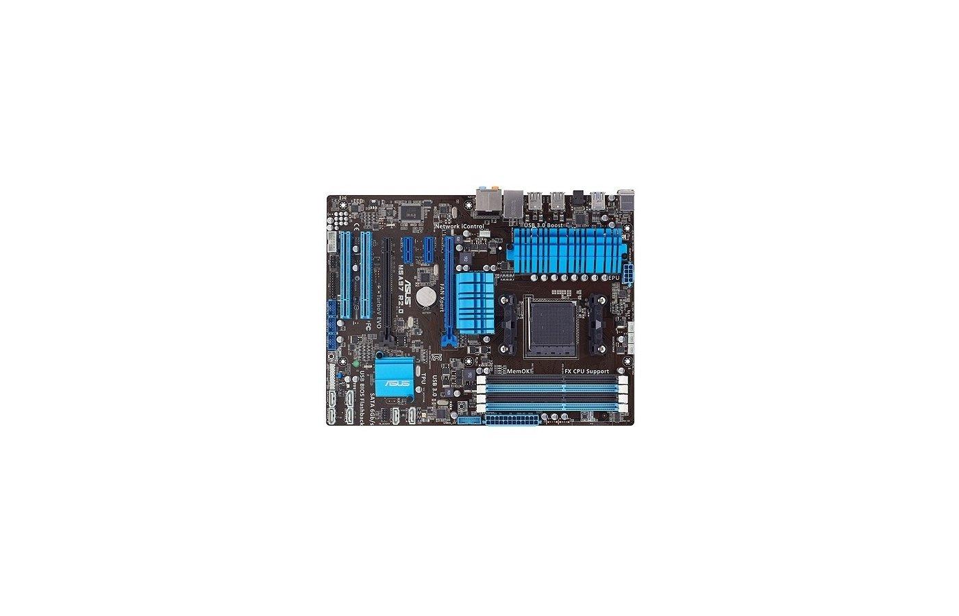 Материнская плата Asus M5A97 R2.0 Soc-AM3+ AMD 970 4xDDR3 ATX AC`97 8ch(7.1)
