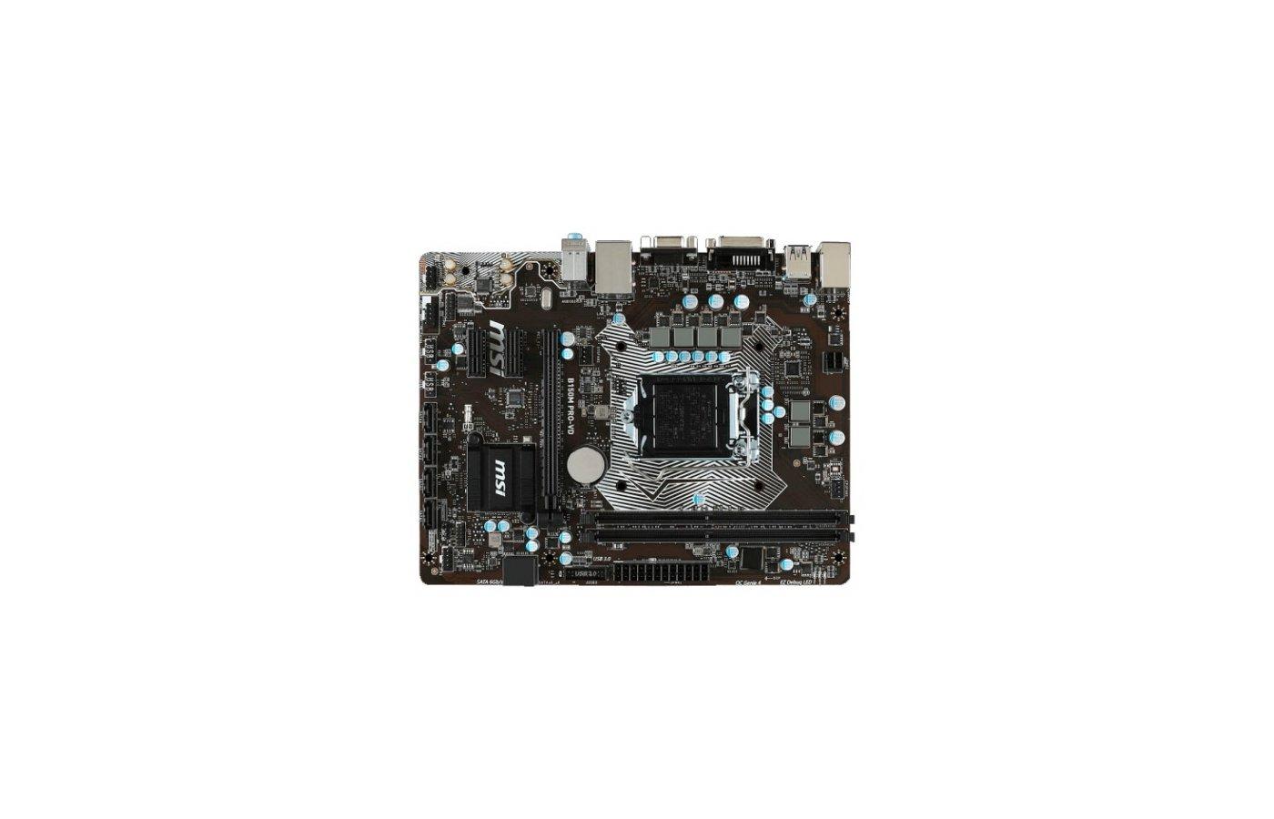 Материнская плата MSI B150M PRO-VD Soc-1151 Intel B150 2xDDR4 mATX AC`97 8ch(7.1)