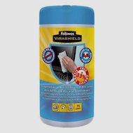Чистящее средство Fellowes FS-2211709 Салфетки чистящие антибактериальные Virashield для экранов в тубе (100 шт)