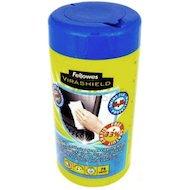 Фото Чистящее средство Fellowes FS-2211709 Салфетки чистящие антибактериальные Virashield для экранов в тубе (100 шт)