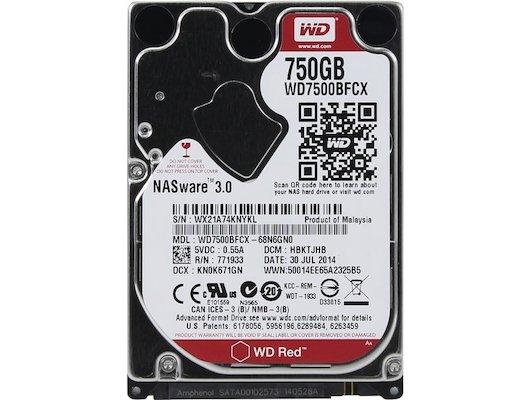 "Жесткий диск Western Digital Original SATA-III 750Gb WD7500BFCX Red (5400rpm) 16Mb 2.5"""