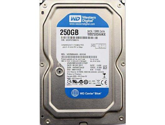 "Жесткий диск WD Original SATA-III 250Gb WD2500AAKX Caviar Blue (7200rpm) 16Mb 3.5"""