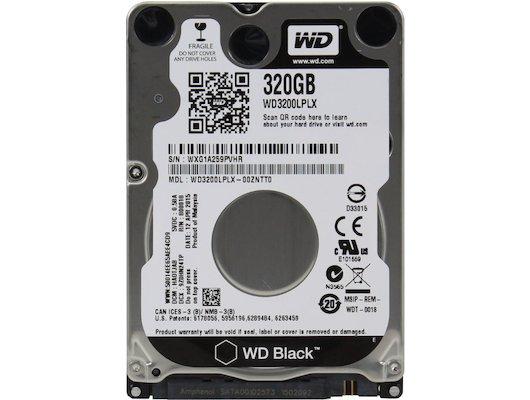 """Жесткий диск WD Original SATA-III 320Gb WD3200LPLX Black (7200rpm) 32Mb 2.5"""""""