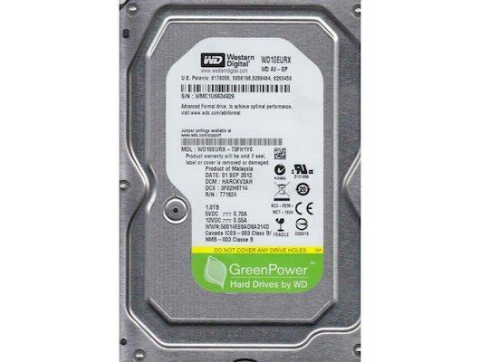 Жесткий диск Western Digital WD10EURX SATA3 1Tb AV-GP 64Mb RCT