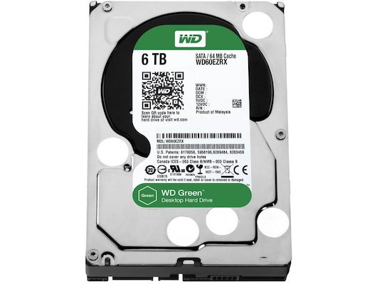 Жесткий диск Western Digital WD60EZRX SATA3 6Tb Caviar Green 64Mb