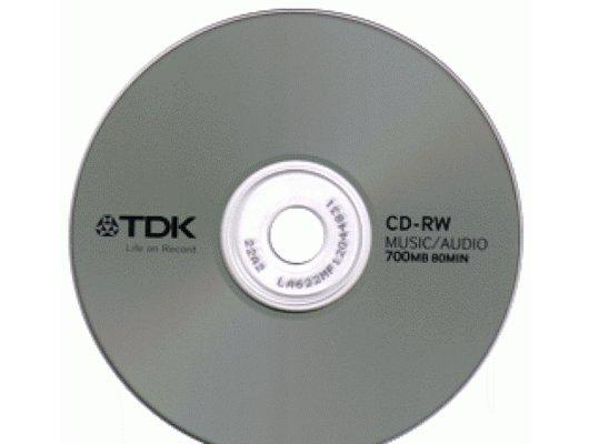 CD-диск TDK CD-RW 700 mb