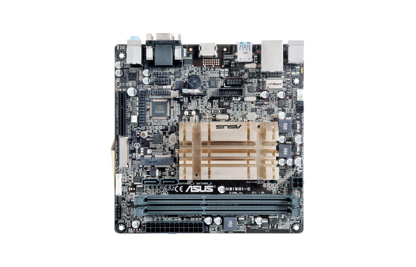 Материнская плата Asus N3150I-C 2xDDR3 mini-ITX AC`97 8ch(7.1)