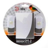 Фото Дверной звонок ЭРА C91-2 беспроводной, две кнопки