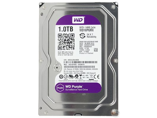 "Жесткий диск WD Original SATA-III 1Tb WD10PURX Purple 64Mb 3.5"""