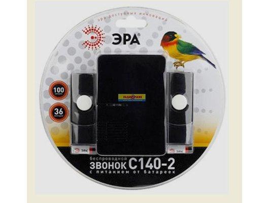 Дверной звонок ЭРА C140-2 беспроводной