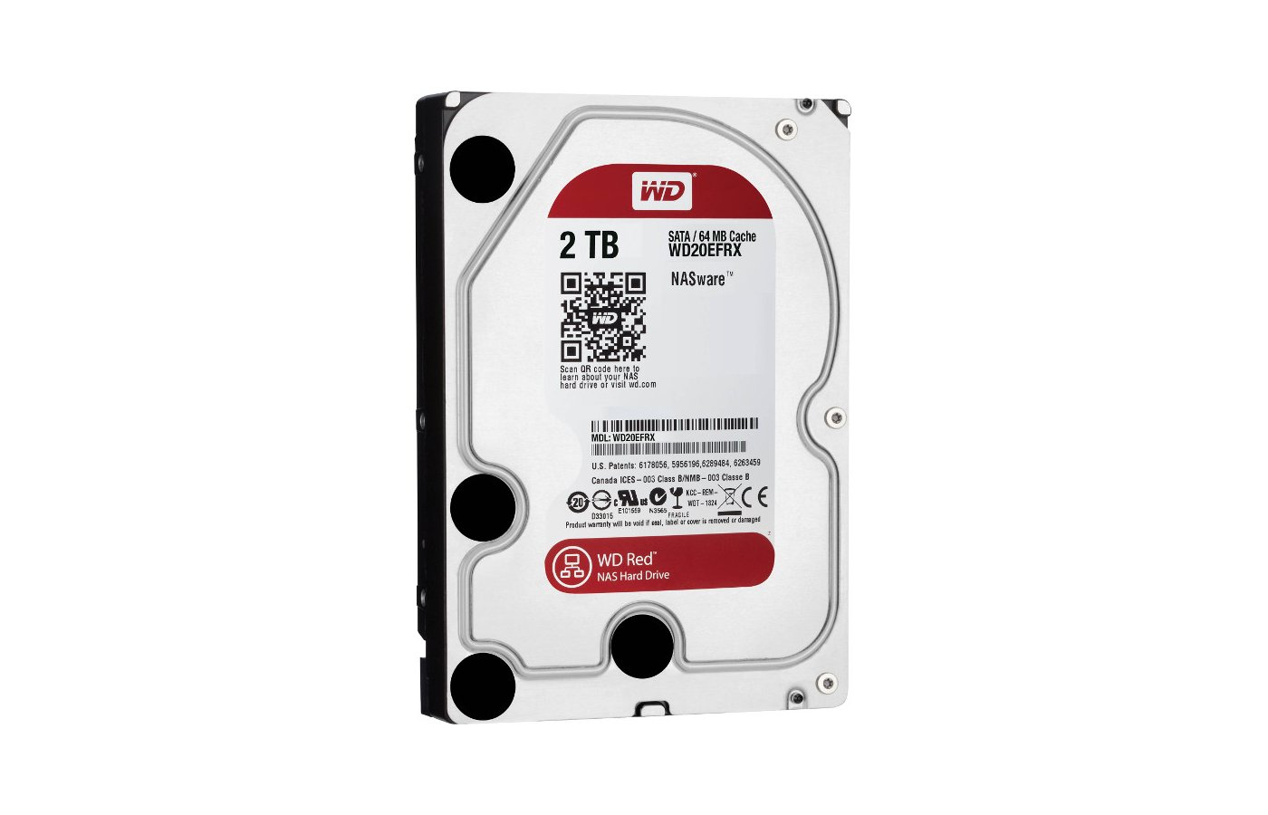 Жесткий диск WD Original SATA-III 2Tb WD20EFRX Red 64Mb 3.5""