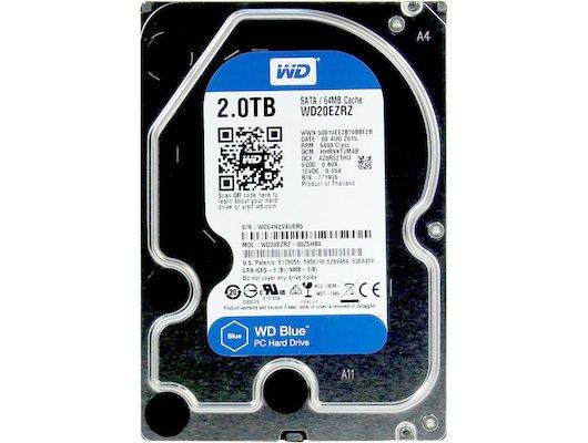 "Жесткий диск WD Original SATA-III 2Tb WD20EZRZ Blue (5400rpm) 64Mb 3.5"""