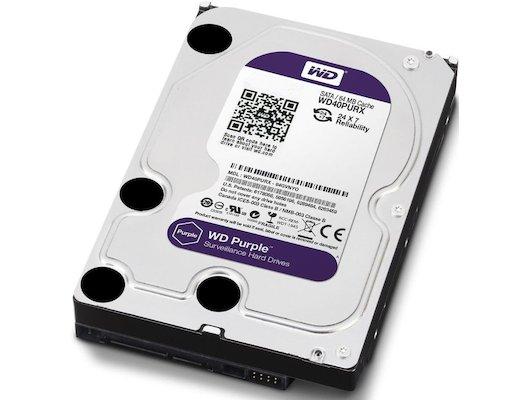 "Жесткий диск WD Original SATA-III 4Tb WD40PURX Purple (5400rpm) 64Mb 3.5"""