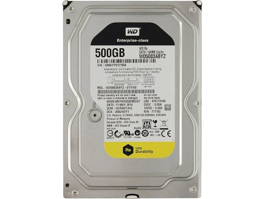 Жесткий диск WD Original SATA-III 500Gb WD5003ABYZ RE (7200rpm) 64Mb 3.5""