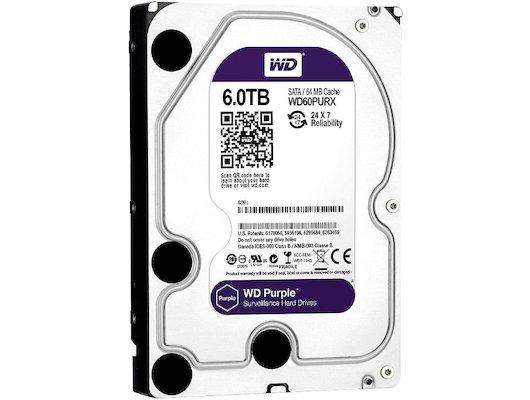 "Жесткий диск WD Original SATA-III 6Tb WD60PURX Purple (5400rpm) 64Mb 3.5"""