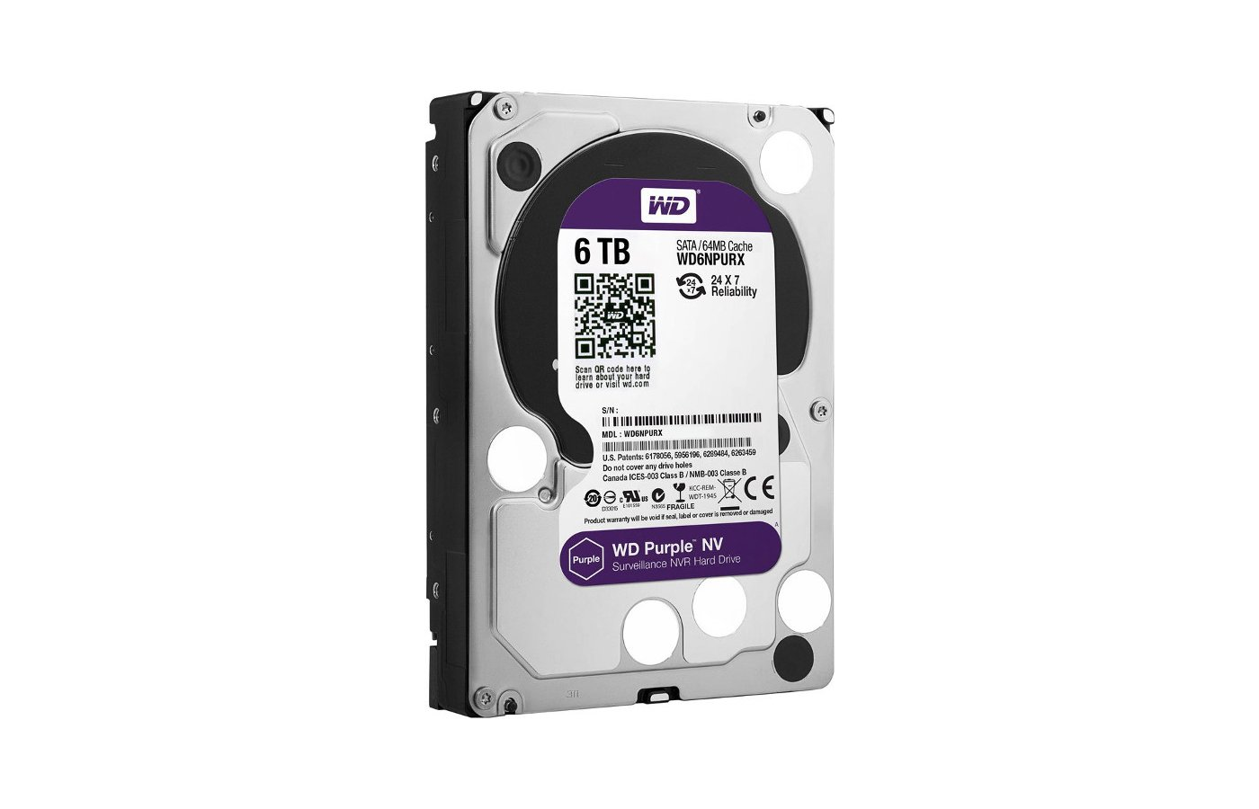 Жесткий диск WD Original SATA-III 6Tb WD6NPURX Purple NV 64Mb 3.5""