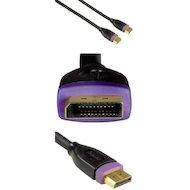 Видео кабель Hama H-78442 DisplayPort (m-m) 1.8м позолоченные контакты двойное экранирование 3зв черный
