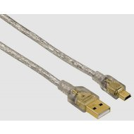 USB Кабель Hama H-41533 USB2.0 USB A(m) - miniUSB B (m) 1.8м прозрачный 5зв