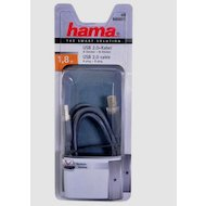 Фото USB Кабель Hama H-45021 USB 2.0 A(m) - В(m) 1.8м 1зв серый