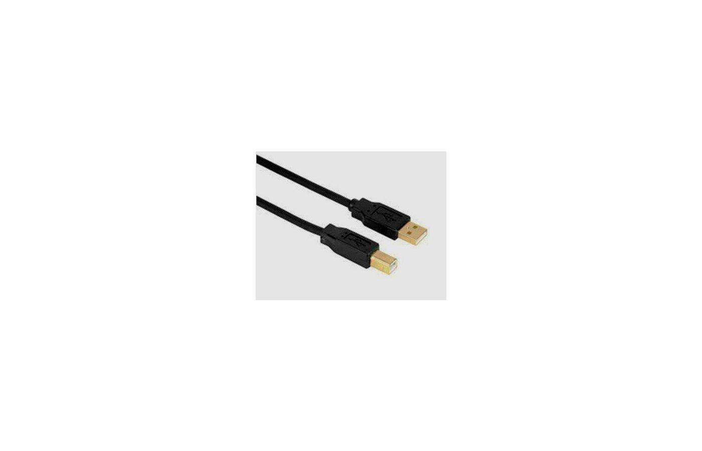 USB Кабель Hama H-29767 USB 2.0 A(m) - В(m) 3м позолоченные штекеры черный