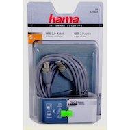 Фото USB Кабель Hama H-45023 USB 2.0 A(m) - В(m) 5м 1зв серый