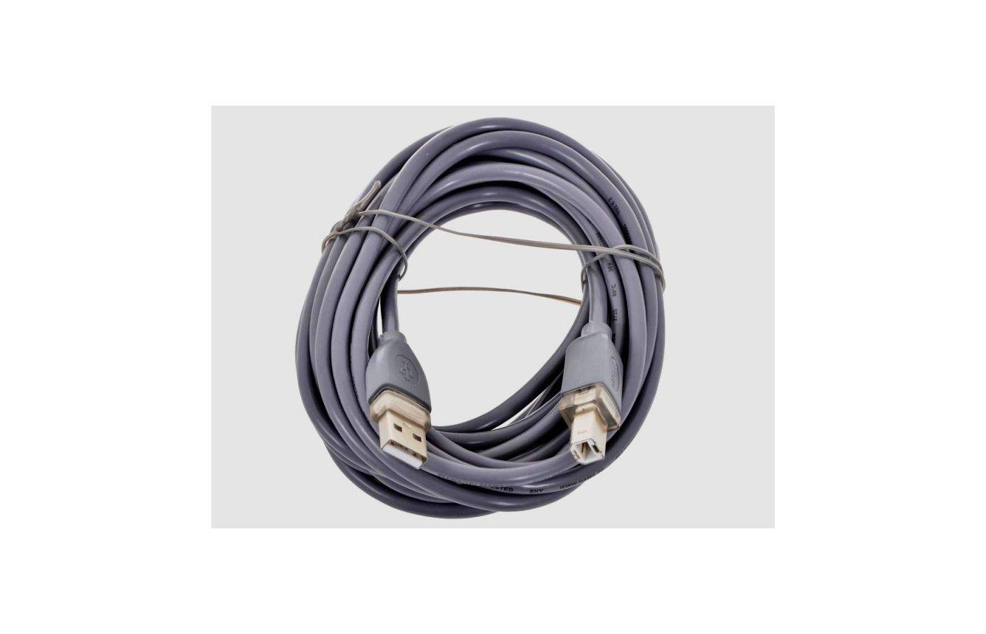 USB Кабель Hama H-45023 USB 2.0 A(m) - В(m) 5м 1зв серый
