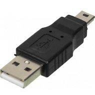 Переходник Переходник NINGBO USB2.0 miniUSB B(m) - USB A(m) (841871)