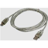 USB Кабель Ningbo USB2.0 A(m) - B(m) прозрачный 3m