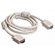 Видео кабель BURO VGA(m) - VGA(f) Удлинитель 2 фильтра 1.8м (VGA-15M/Fpro)