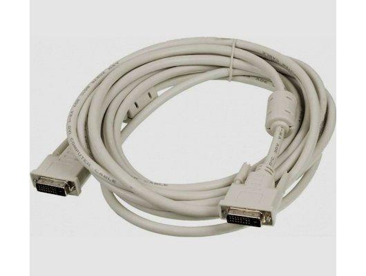 Видео кабель Ningbo 840682 DVI-D(m) dual link/DVI-D(m) dual link Кабель 5м феррит.кольца