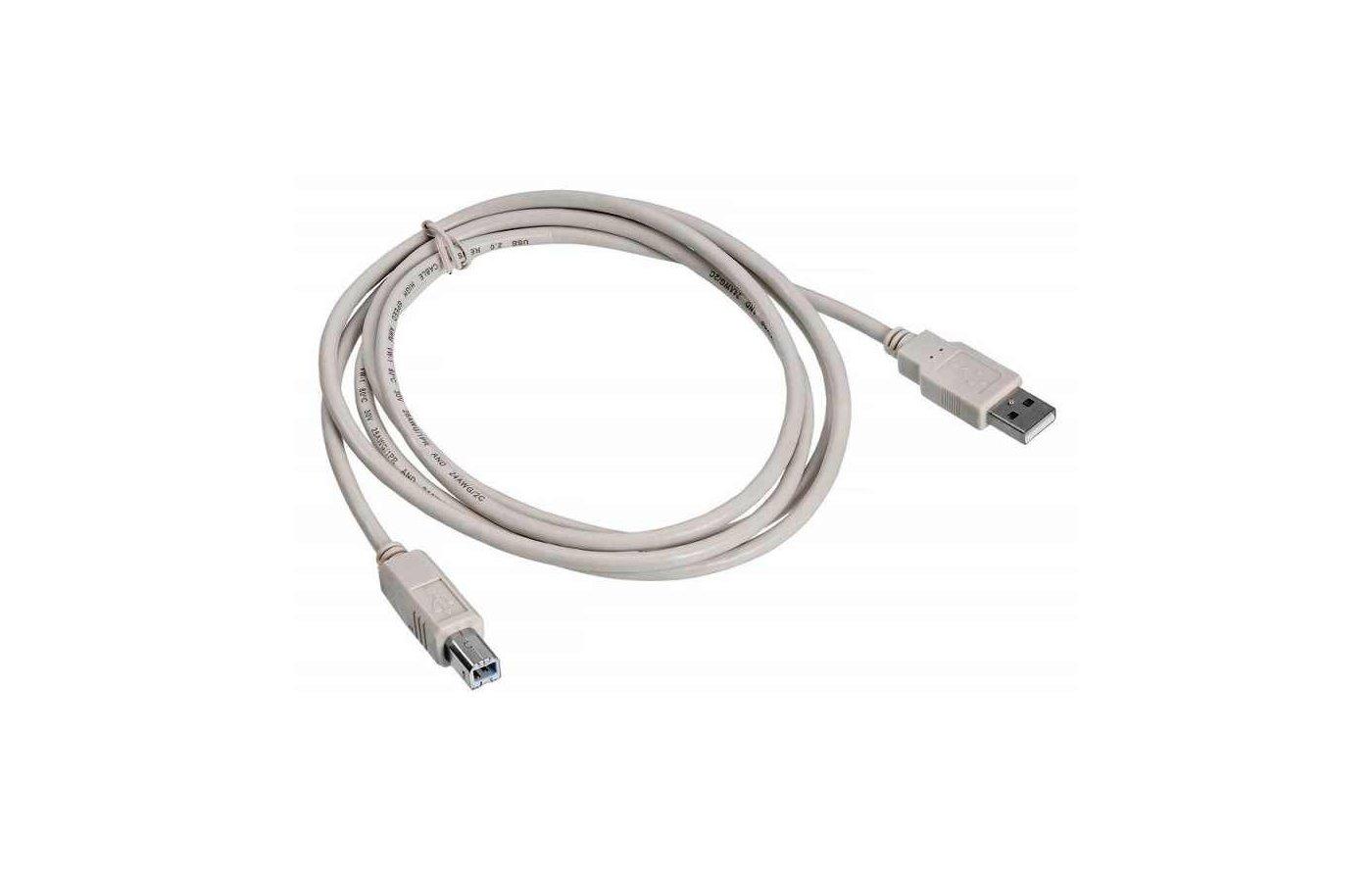 USB Кабель BURO USB 2.0 A(m) - B (m) 1.8м Медь (817258)