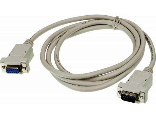 Видео кабель VGA Premium 15M/15F 1.8м удлинитель. Тройной экран, ферритовые кольца (CAB015-06)