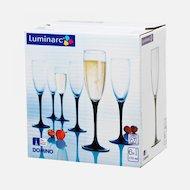 Фото Посуда для напитков Фужер для шампанского 6шт 170мл Домино Н8167