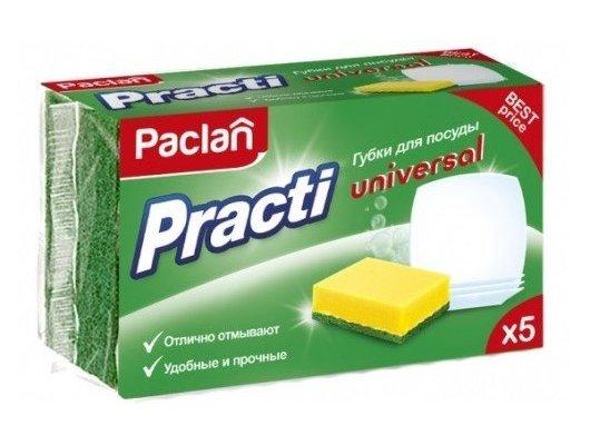 Средсва по уходу за кухней PACLAN 409130 Practi губки для посуды 5шт