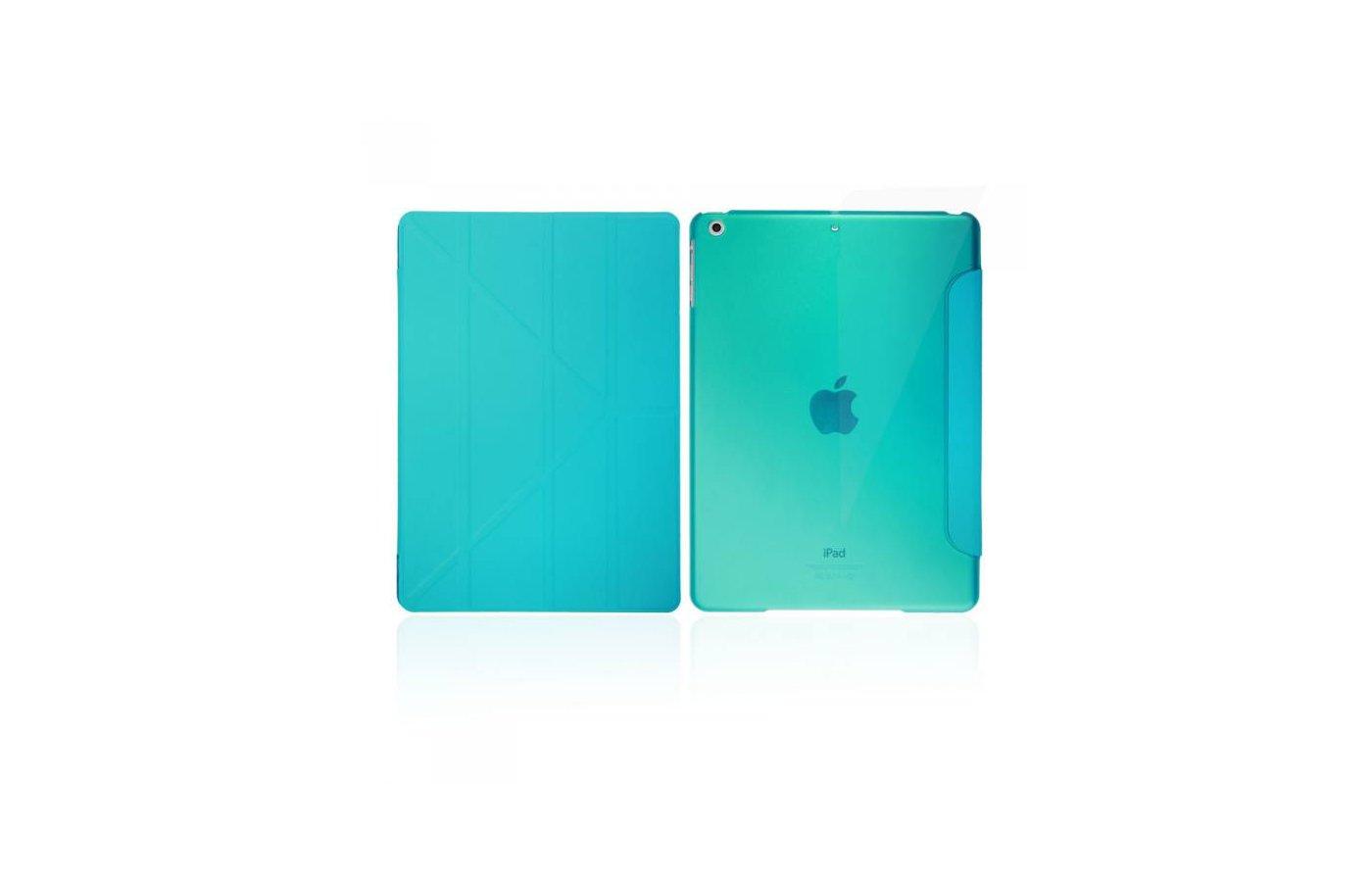 Чехол для планшетного ПК IT BAGGAGE для iPad Air 9.7 hard case искус. кожа синий с тонированной задней стенкой ITIPAD501-4