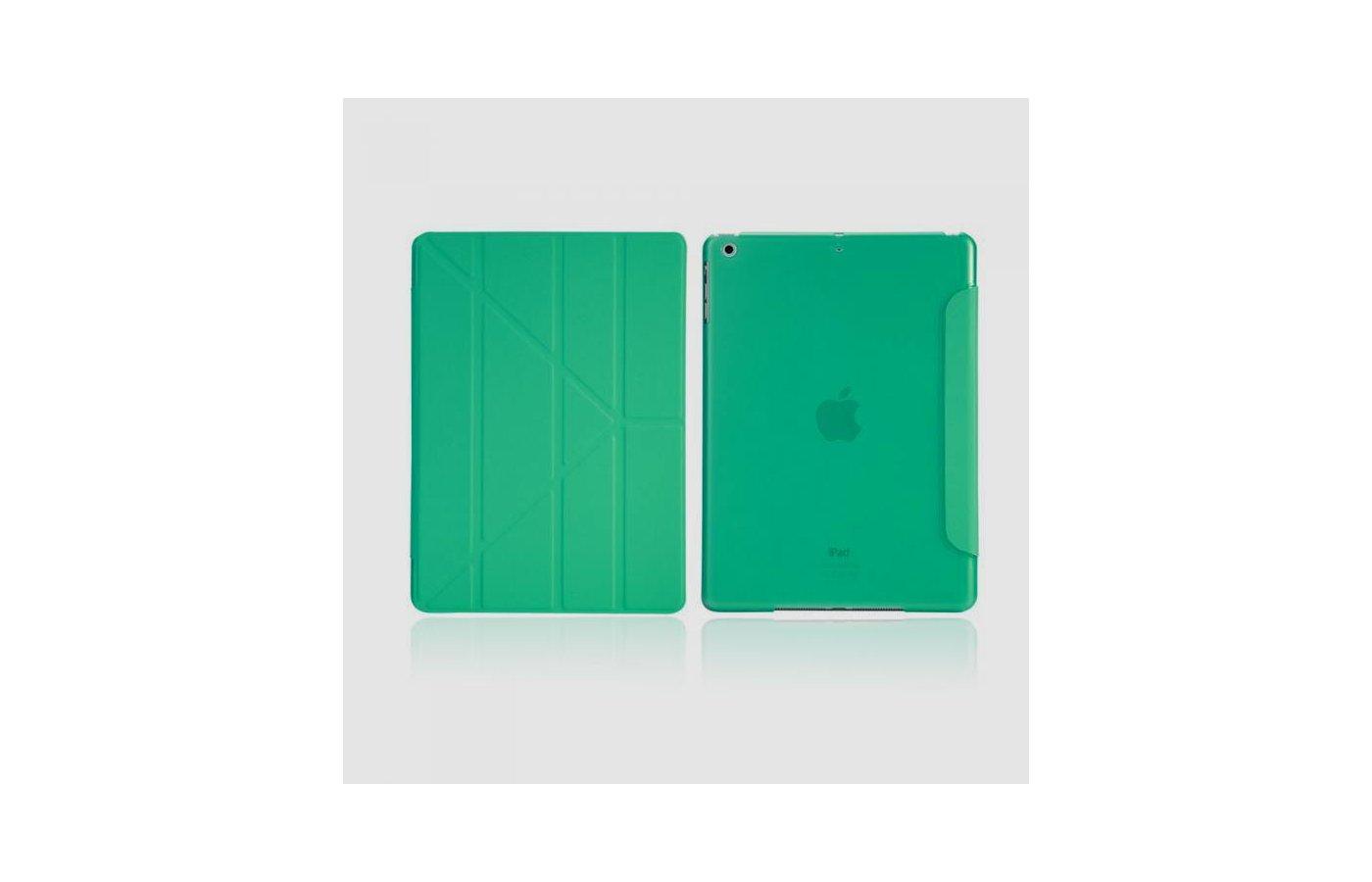Чехол для планшетного ПК IT BAGGAGE для iPad Air 9.7 hard case искус. кожа бирюзовый с тонированной задней стенкой ITIPAD501-