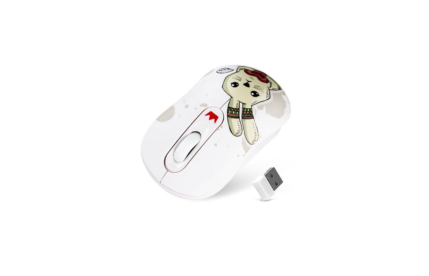 Мышь беспроводная CROWN CMM-928W (rabbit)