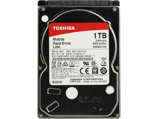 "Жесткий диск Toshiba SATA-III 1Tb HDWJ110UZSVA L200 (5400rpm) 8Mb 2.5"""