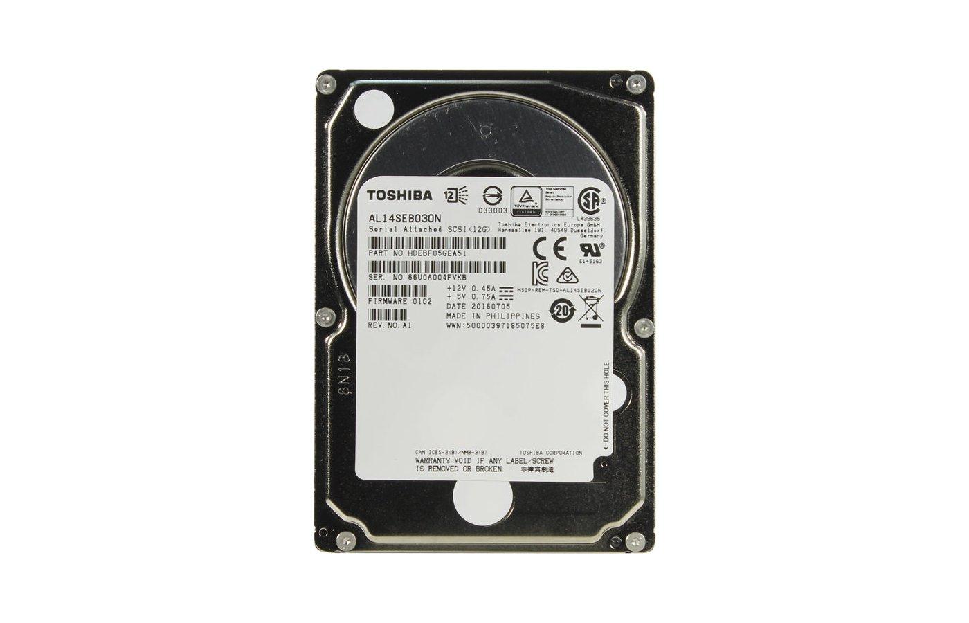 Жесткий диск Toshiba SAS 300Gb AL14SEB030N 2.5 10K RPM 128Mb