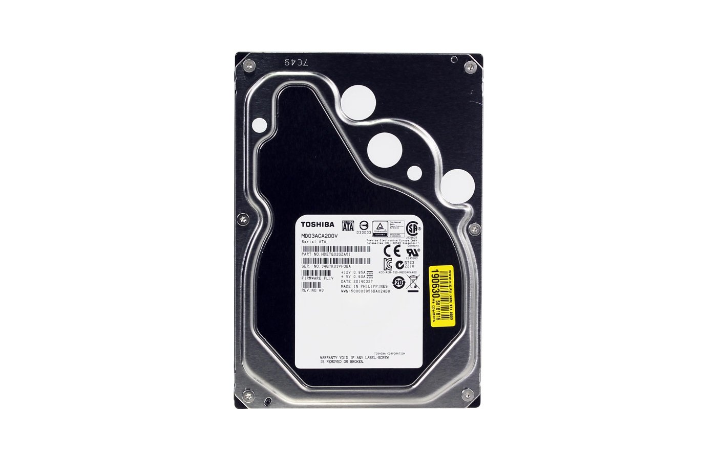 Жесткий диск Toshiba MD03ACA200V SATA3 2Tb Video 7200 rpm 64Mb
