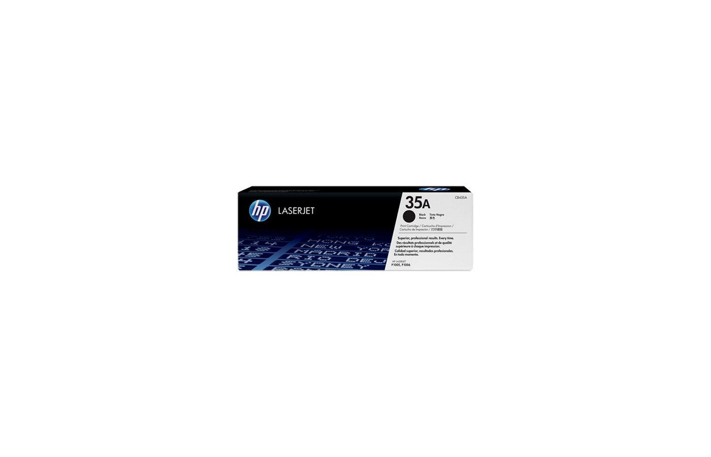 Картридж лазерный HP CB435A черный для LaserJet P1005/P1006 (1500стр.)