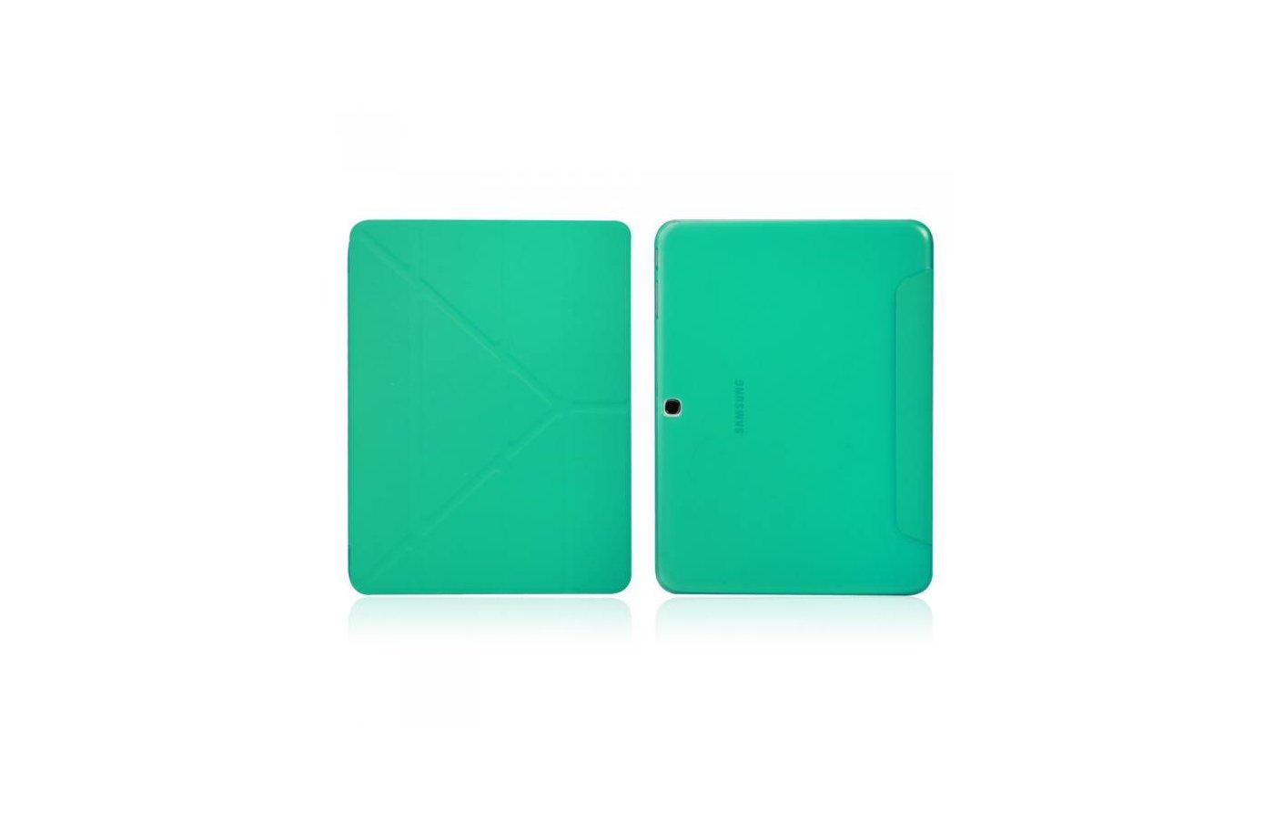 Чехол для планшетного ПК IT BAGGAGE для SAMSUNG Galaxy Tab4 10.1 hard case искус. кожа бирюзовый с тонированной задней стенко