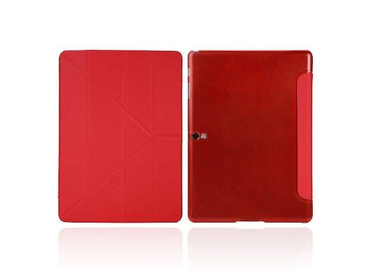 Чехол для планшетного ПК IT BAGGAGE для SAMSUNG Galaxy TabS 10.5 hard case искус. кожа красный с тонированной задней стенкой