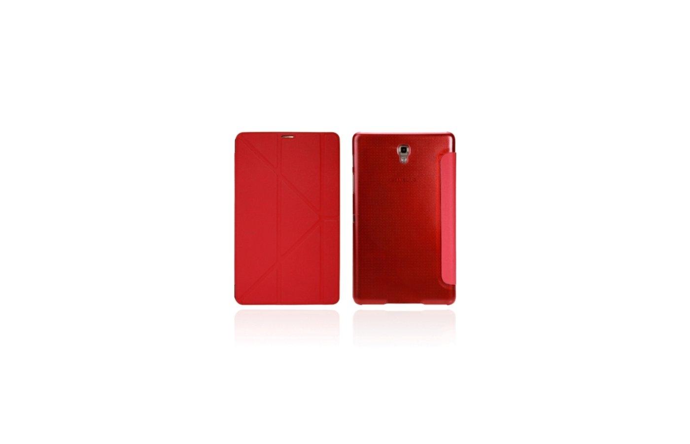 Чехол для планшетного ПК IT BAGGAGE для SAMSUNG Galaxy TabS 8.4 hard case искус. кожа красный с тонированной задней стенкой I
