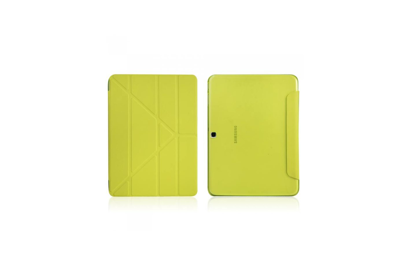 Чехол для планшетного ПК IT BAGGAGE для SAMSUNG Galaxy Tab4 10.1 hard case искус. кожа лайм с тонированной задней стенкой ITS