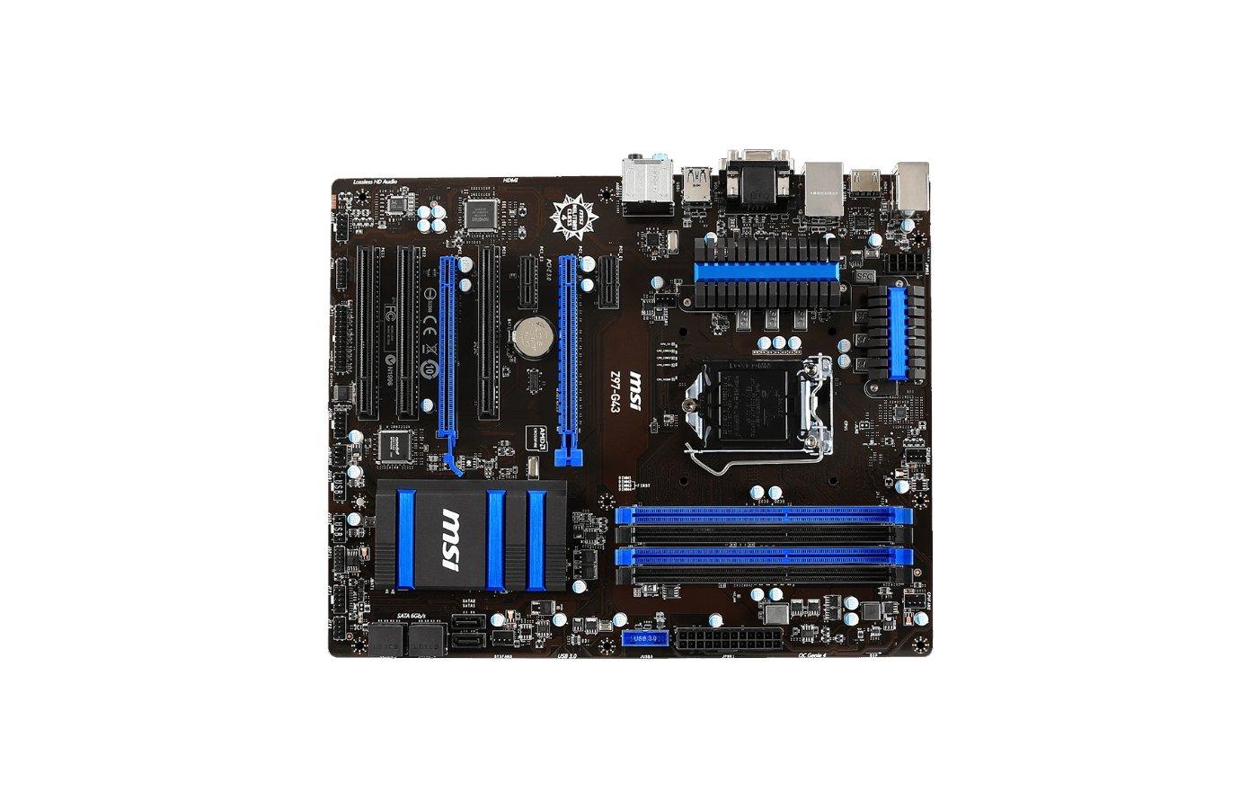 Материнская плата MSI Z97-G43 Soc-1150 Intel Z97 4xDDR3 ATX AC`97 8ch(7.1)