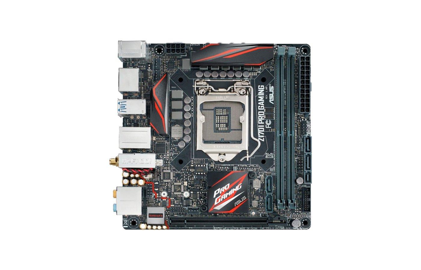 Материнская плата Asus Z170I PRO GAMING Soc-1151 Intel Z170 2xDDR4 mini-ITX AC`97 8ch(7.1)