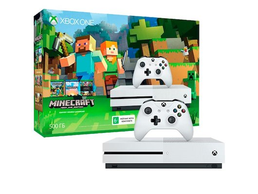 Microsoft Xbox One S 500 ГБ + Minecraft Favorites (ZQ9-00048)